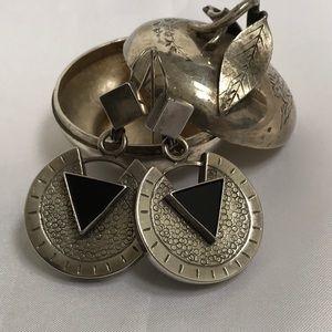Jewelry - Mid Century Modern Silver Earrings